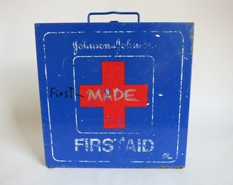 Vintage Blue First Aid Kit