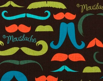 It's a Moustache - Cotton Quilting - 1 yard