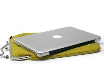 SALE Mini laptop case / 11'' case Lemon Green - Duchess Case for laptop - 20% off