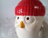 Ceramic Christmas Baby Owl Ornaments Decor
