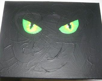 Glow in the Dark Art - Cat Eyes