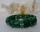 Green Adventurine Stone Stretchy Bracelet