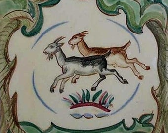 Reproduction of Vintage Italian Goat Tiles