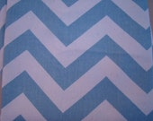 "Village Blue and Natural Zig Zag Chevron 18"" Pillow Cover"