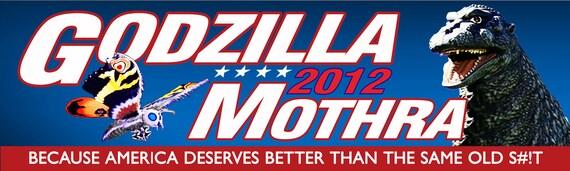 Godzilla Mothra 2012 Bumper Sticker