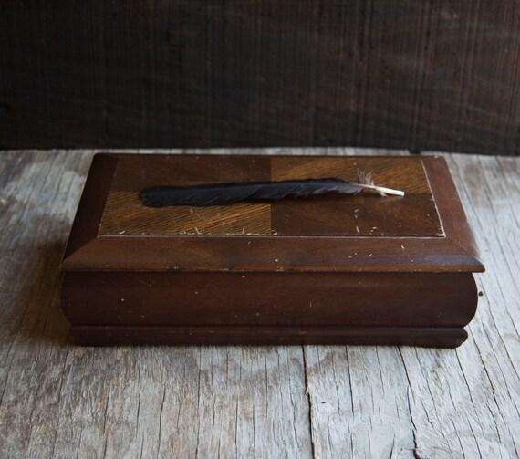 Wooden Mid Century Jewelry Box