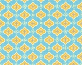 Dena Designs for Free Spirit -  TEA GARDEN - Sencha in Blue - 1 Yard - Cotton Fabric