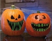 6 pack Glow in the dark Pumpkin Teeth  Special 72 Teeth Total