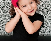 ROCKIN' THE PINK--Hot Pink Hackle Feather Headband