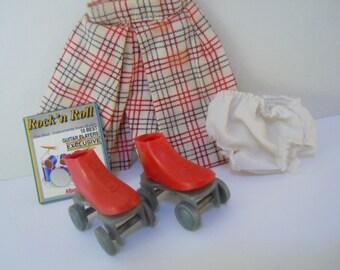 Vintage Doll Culottes and Roller Skates