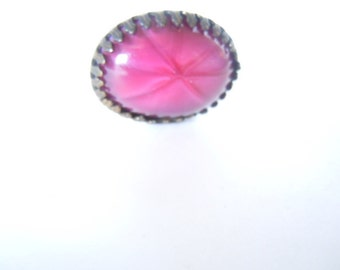 Pink Glass Faux Sapphire Hat Pin