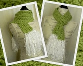 Fabulous Fringe Crochet Scarf - Handmade - Ready to Ship