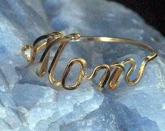 Mom Name Ring in 12k Gold Fill