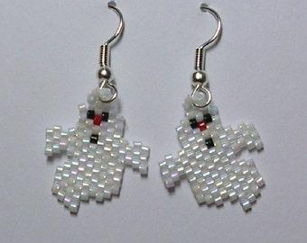 Mini Ghost Earrings