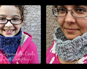 Vintage Inspired Crochet Cowl Pattern for Kids, Teens, and Adults