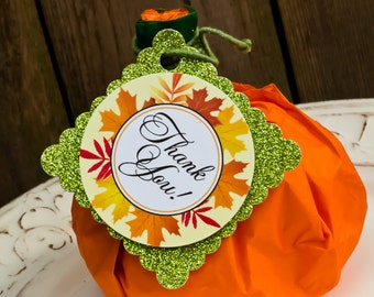 "Pumpkin Patch Party Favor Tags 2""x 2"" by Cutie Putti Paperie"