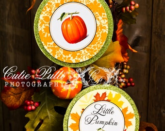 "Pumpkin Patch Party Printable 4"" Themed Party Circles by Cutie Putti Paperie"