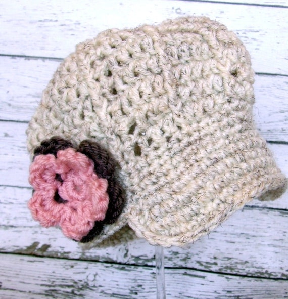 The Lilly Slouchy Newsgirl Cap in Wheat, Baby Pink and Taupe Available in Multiple Sizes Free Shipping in the U.S.- MADE TO ORDER