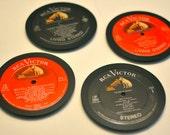 Vinyl Record Coasters (Set)