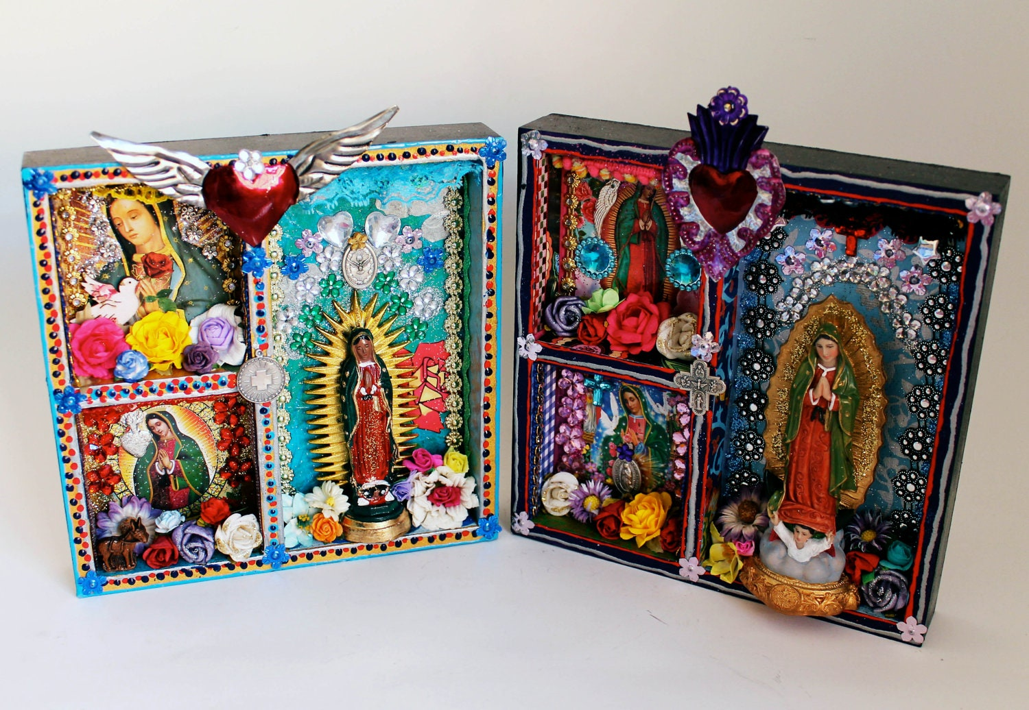 Our lady of guadalupe shadow box shrine the virgin mary for Our lady of guadalupe arts and crafts