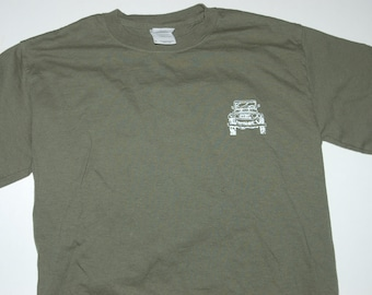 FJ40 Series Land Cruiser LandCruiser Adult Small Army Green Tshirt