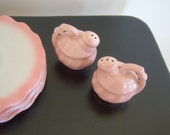 Vintage Pink Salt Pepper Shakers - RockySpringsVintage