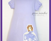 Sofia the First Applique Tunic Dress Available in Sizes 3, 4, 5 and 6
