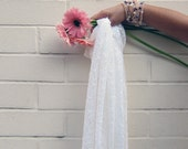 Candlelight Lace Scarf - Cream Soft Lace Extra Long