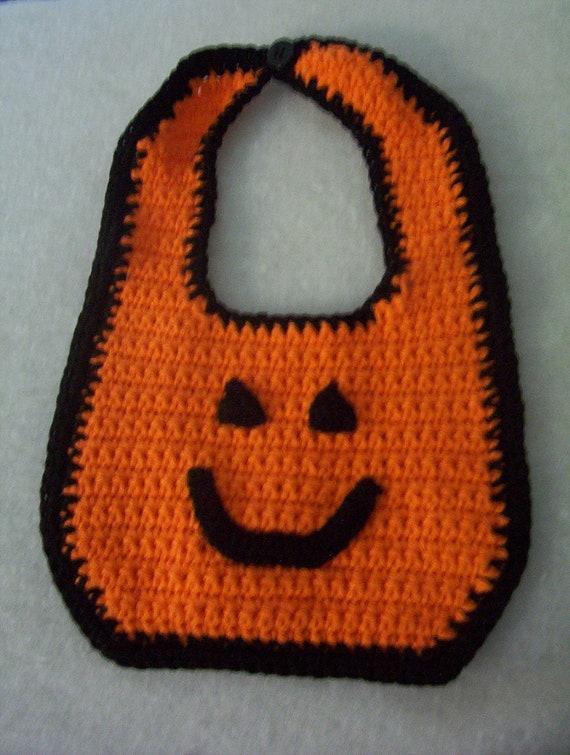Items Similar To Funny Sweatshirt Cool Baseball Tshirt: Items Similar To Halloween Crochet Baby Bib On Etsy