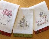 Christmas Tea Towel Embroidery Pattern