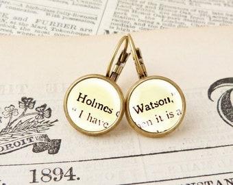 Holmes & Watson - Literature Earrings