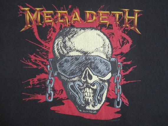 Original MEGADETH vintage 1987 tour SHIRT