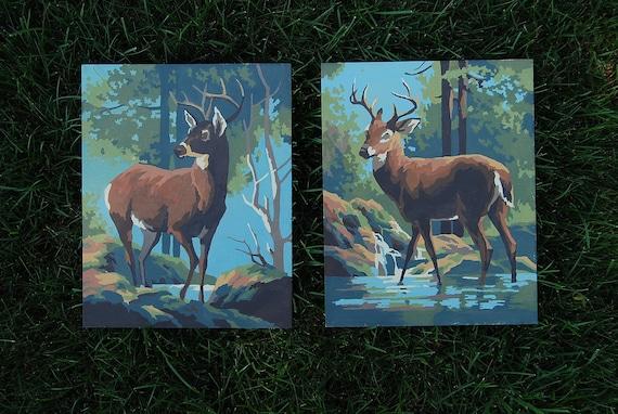 Vintage Deer Paint by Number