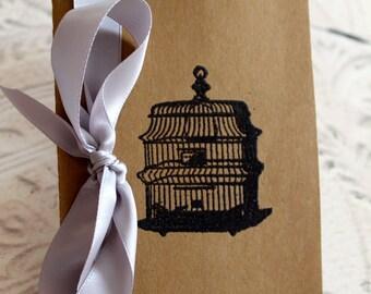 Embossed Moleskine Journal / Notebook / Cashier - Bird Cage