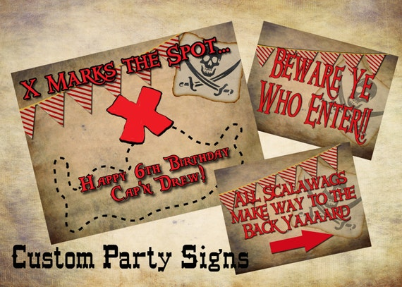 Printable Pirate Party Package