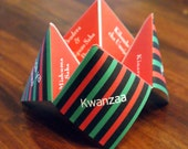 Kwanzaa Cootie Catcher, Kwanzaa Decoration, Happy Kwanza, Kwanza, Kwanzaa Card, Favor, Holiday, Game, Party, DIY, Printable, Invitation