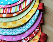 Pennant or Scalloped Fabric Bunting/Garland - Red