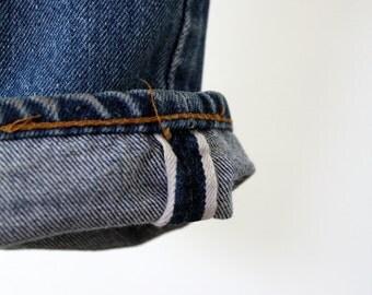 Levis selvedge denim, vintage 501 Levis jeans, 29 x 31