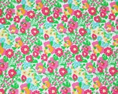 Authentic New Lilly Pulitzer Fabric 2012 Summer  Resort Wite Mini Garden By th Sea  15 x 23 inches