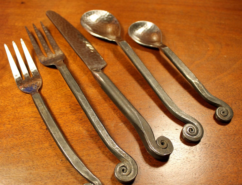 Wrought iron flatware flatware serving pieces iron accents wrought iron flatware wrought iron - Wrought iron flatware ...