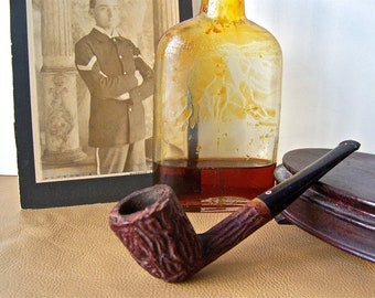 Vintage Pipe Imported Briar Mans Pipe Smoking Accessory Tobacco Pipe Red Dot Pipe Mid Century 1950s