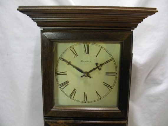 Vintage Bulova Wall Clock Bulova Cordless Battery Clock