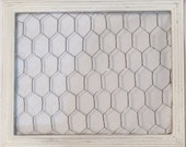 Shabby Chic / Vintage / French Cottage Styled Chicken Wire / Poultry Netting Noteboard / Inspiration Board