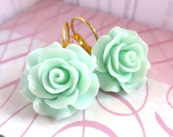 MINT - Large Rose Gold Lever Back Earrings