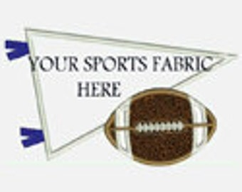 Football with Pennant...Great for Team Fabric...Embroidery Applique Design...Three sizes for multiple hoops...item1181...INSTANT DOWNLOAD