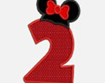 Ms Mouse Hat Numbers 0-9.....Two sizes for multiple hoops...Item1493...INSTANT DOWNLOAD