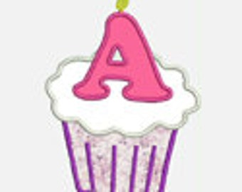 Cupcake Alphabet A-Z...Embroidery Applique Design...Three sizes for multiple hoops...Item1241...INSTANT DOWNLOAD