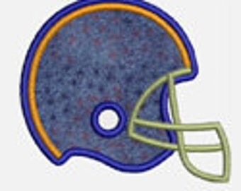 Football Helmet...Embroidery Applique Design...Three sizes for multiple hoops...item1257...INSTANT DOWNLOAD