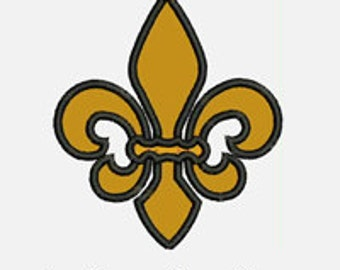 Fleur De Lis...Embroidery Applique Design...Three sizes for multiple hoops...Item1209...INSTANT DOWNLOAD