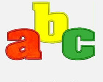 Lower Case Alphabet A-Z...Embroidery Applique Design...Two sizes for multiple hoops...Item1354...INSTANT DOWNLOAD.